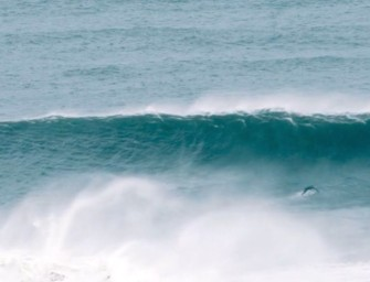 Big Winter Swell in Newquay, Cornwall (UK)