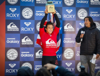 KEANU ASING & CARISSA MOORE WIN QUIKSILVER & ROXY PRO FRANCE TYLER WRIGHT CLAIMS MAIDEN WSL TITLE IN FRANCE